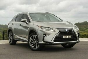 2016 Lexus RX GYL25R RX450h Sports Luxury Silver 6 Speed Constant Variable Wagon Hybrid Somersby Gosford Area Preview