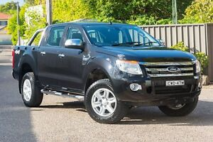 2014 Ford Ranger PX XLT Double Cab Black 6 Speed Sports Automatic Utility Greenacre Bankstown Area Preview