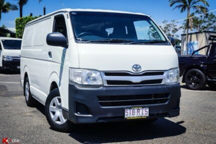 2010 Toyota Hiace KDH201R MY10 LWB White 4 Speed Automatic Van Archerfield Brisbane South West Preview
