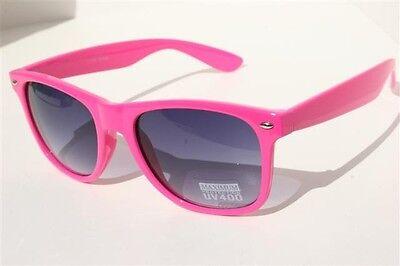 Neon Pink Sunglasses (NEW Neon Pink Sunglasses Vintage retro 80's black gradient)