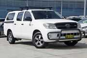2006 Toyota Hilux GGN15R MY07 SR 4x2 White 5 Speed Manual Utility Castle Hill The Hills District Preview