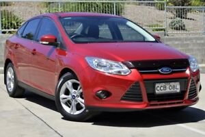 2013 Ford Focus LW MK2 Trend Red 6 Speed Automatic Sedan Lisarow Gosford Area Preview