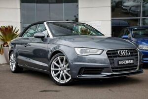 2015 Audi A3 8V MY16 Attraction S Tronic Grey 7 Speed Sports Automatic Dual Clutch Cabriolet