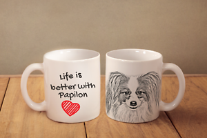 Papillon - ceramic cup, mug &quot;Life is better&quot;, CA - <span itemprop='availableAtOrFrom'>Zary, Polska</span> - Papillon - ceramic cup, mug &quot;Life is better&quot;, CA - Zary, Polska