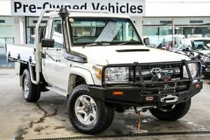 2015 Toyota Landcruiser VDJ79R MY12 Update GXL (4x4) White 5 Speed Manual Cab Chassis Cannington Canning Area Preview