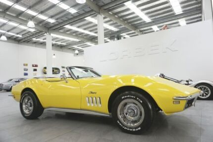 1968 Chevrolet Corvette Stingray Yellow 4 Speed Manual Roadster Port Melbourne Port Phillip Preview