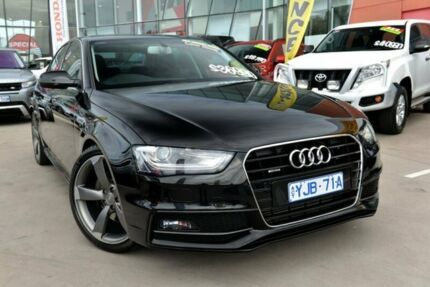 2014 Audi A4 B8 8K MY14 S Line Quattro Black 6 Speed Manual Sedan