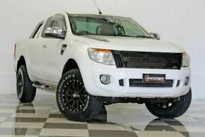 2012 Ford Ranger PX XLT 3.2 (4x4) White 6 Speed Automatic Super Cab Utility Burleigh Heads Gold Coast South Preview