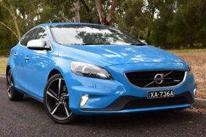 2013 Volvo V40 M Series MY14 T5 Adap Geartronic R-Design Blue 6 Speed Sports Automatic Hatchback St Marys Mitcham Area Preview