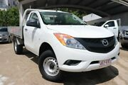2015 Mazda BT-50 UP0YF1 XT White 6 Speed Sports Automatic Cab Chassis Mount Gravatt Brisbane South East Preview