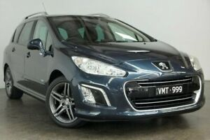 2013 Peugeot 308 T7 MY13 Sportium Touring Grey 6 Speed Sports Automatic Wagon South Melbourne Port Phillip Preview