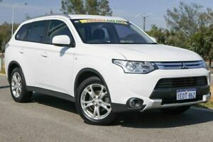 2014 Mitsubishi Outlander ZJ MY14.5 ES 4WD White 6 Speed Constant Variable Wagon Clarkson Wanneroo Area Preview
