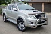 2012 Toyota Hilux KUN26R MY12 SR5 Double Cab Silver 4 Speed Automatic Utility Greenacre Bankstown Area Preview
