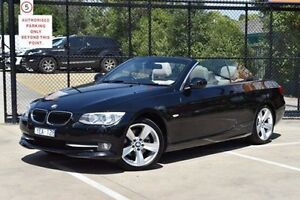 2011 BMW 320D E93 MY11 Black 6 Speed Manual Convertible Berwick Casey Area Preview