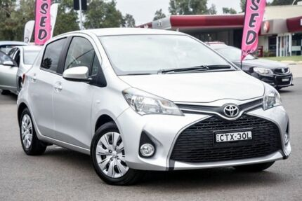 2014 Toyota Yaris NCP131R SX Silver 4 Speed Automatic Hatchback Penrith Penrith Area Preview