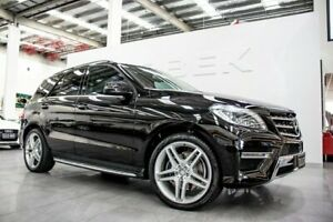 2013 Mercedes-Benz ML250 CDI BlueTEC 166 MY2014 4x4 Obsidian Black 7 Speed Automatic Wagon Port Melbourne Port Phillip Preview