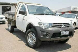 2013 Mitsubishi Triton MN MY14 GL 4x2 White 5 Speed Manual Cab Chassis Dandenong Greater Dandenong Preview