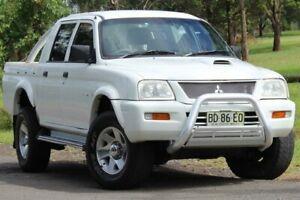 2005 Mitsubishi Triton MK MY05.5 GLX-R Double Cab White 5 Speed Manual Utility Lansvale Liverpool Area Preview