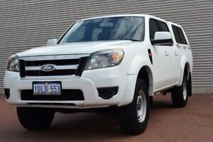 2010 Ford Ranger PK XL Crew Cab Hi-Rider White 5 Speed Automatic Utility