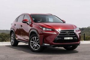 2015 Lexus NX AGZ15R NX200t AWD Luxury Red 6 Speed Sports Automatic Wagon Somersby Gosford Area Preview