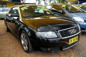 2003 Audi A4 B6 Multitronic Black 1 Speed Constant Variable Cabriolet Minchinbury Blacktown Area Preview