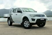 2014 Mitsubishi Triton MN MY15 GLX Double Cab White 4 Speed Sports Automatic Utility Portsmith Cairns City Preview