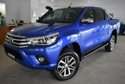 2015 Toyota Hilux GUN126R SR5 Double Cab Blue 6 Speed Sports Automatic Utility Port Macquarie Port Macquarie City Preview
