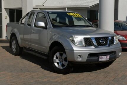 2008 Nissan Navara D40 ST-X King Cab Silver 5 Speed Automatic Utility Southport Gold Coast City Preview