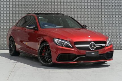2015 Mercedes-Benz C63 W205 AMG SPEEDSHIFT MCT S Red 7 Speed Sports Automatic Sedan Slacks Creek Logan Area Preview