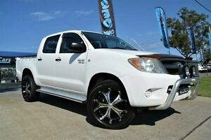 2007 Toyota Hilux GGN25R 07 Upgrade SR (4x4) White 5 Speed Automatic Dual Cab Pick-up Mulgrave Hawkesbury Area Preview