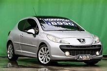 2008 Peugeot 207 A7 GT Aluminium Grey 5 Speed Manual Hatchback Ringwood East Maroondah Area Preview