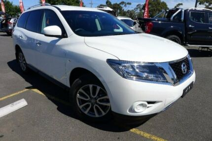 2016 Nissan Pathfinder R52 MY15 ST X-tronic 4WD White 1 Speed Constant Variable Wagon