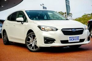 2019 Subaru Impreza G5 MY19 2.0i CVT AWD White 7 Speed Constant Variable Hatchback Wangara Wanneroo Area Preview