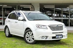 2010 Subaru Tribeca B9 MY10 R AWD Premium Pack White 5 Speed Sports Automatic Wagon