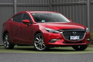 2018 Mazda 3 BN5238 SP25 SKYACTIV-Drive Astina Red 6 Speed Sports Automatic Sedan Wantirna South Knox Area Preview