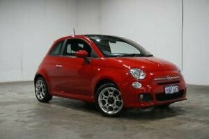 2015 Fiat 500 Series 3 S Dualogic Red 5 Speed Sports Automatic Single Clutch Hatchback Welshpool Canning Area Preview