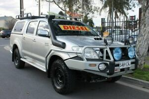 2009 Toyota Hilux KUN26R 09 Upgrade SR5 (4x4) Silver 5 Speed Manual Dual Cab Pick-up Klemzig Port Adelaide Area Preview