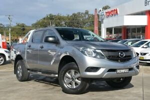 2016 Mazda BT-50 MY16 XT (4x4) Silver 6 Speed Automatic Dual Cab Utility Wyoming Gosford Area Preview