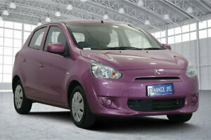 2013 Mitsubishi Mirage LA MY14 ES Pink 5 Speed Manual Hatchback Victoria Park Victoria Park Area Preview