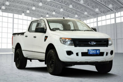 2012 Ford Ranger PX XL Double Cab 4x2 Hi-Rider White 6 Speed Sports Automatic Utility Victoria Park Victoria Park Area Preview