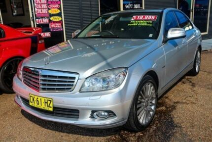 2007 Mercedes-Benz C280 W204 Elegance Silver 7 Speed Sports Automatic Sedan Colyton Penrith Area Preview