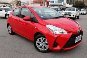 2018 Toyota Yaris NCP130R MY17 Ascent Cherry 4 Speed Automatic Hatchback