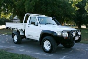 2011 Nissan Patrol GU 7 MY10 ST White 5 Speed Manual Wagon Townsville Townsville City Preview