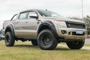 2014 Ford Ranger PX XLT Double Cab Sparkling Gold 6 Speed Sports Automatic Utility Clarkson Wanneroo Area Preview