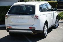 2014 Mitsubishi Outlander ZJ MY14.5 ES 4WD White 6 Speed Constant Variable Wagon Main Beach Gold Coast City Preview