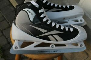 Goalie skates size 11 D or US 12 ½ men's Reebok 5K ice hockey go