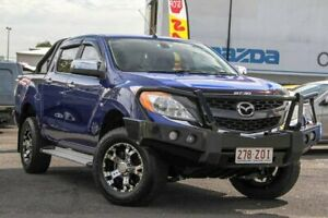 2012 Mazda BT-50 UP0YF1 GT Blue 6 Speed Sports Automatic Utility Springwood Logan Area Preview