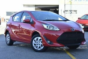 2018 Toyota Prius c NHP10R E-CVT Red 1 Speed Constant Variable Hatchback Hybrid