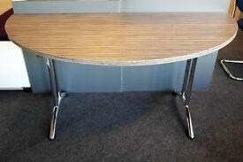 Zebrano Semi-Circular Folding Table