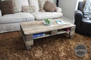ON SALE!!!! ANTIQUE PALLET/SKID COFFEE TABLES